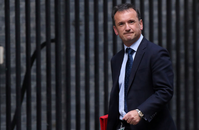 © Reuters. FILE PHOTO: Britain's Secretary of State for Wales Alun Cairns is seen outside Downing Street in London