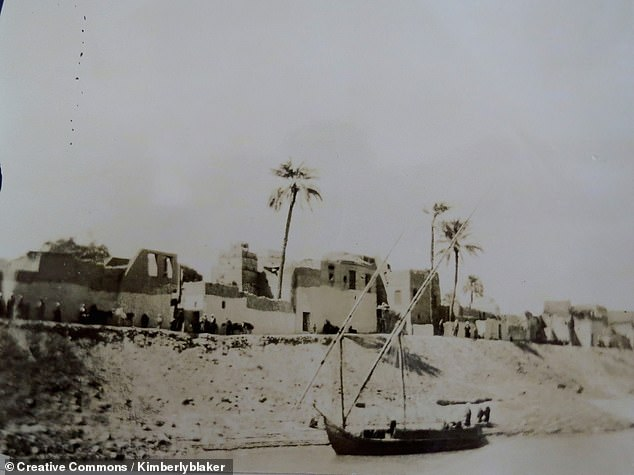 'One of the big questions about the Nile is when it originated and why it has persisted for so long,' said geologist Claudio Faccenna of Italy's Roma Tre University. Pictured, a village on the banks of the Nile in 1891 — a recent memory for the long-lived river