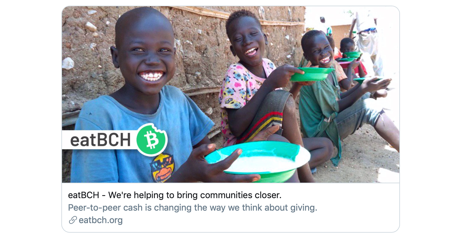 Bitcoin Cash Community Funds Eatbch Trip to Ghana