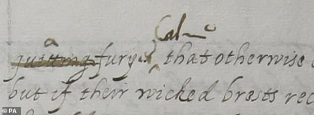The corrections made to the translation are a match for Elizabeth's late hand