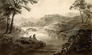 A river landscape by William Gilpin.