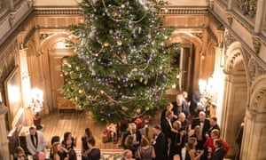 Christmas Party at Highclere Castle.