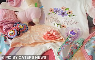 'Little sister' clothes were bought to include the couple's other daughters