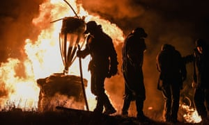 The Burning of the Clavie, Burghead, Scotland.