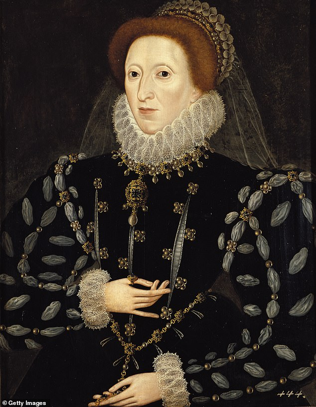 Elizabeth, painted here around 1575, became a lasting symbol of continuity and of reassurance through her portraits