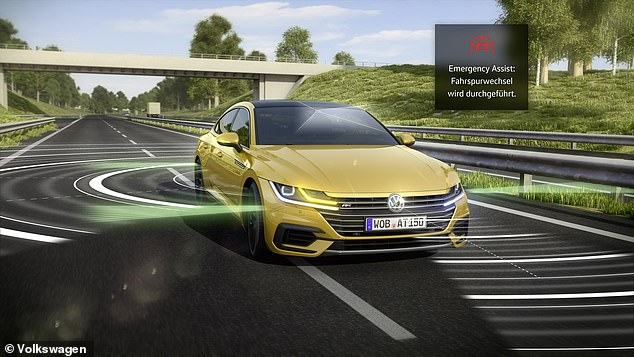 Even if a driver passes out at the wheel of the VW Arteon it will be able to bring itself to a standstill safely