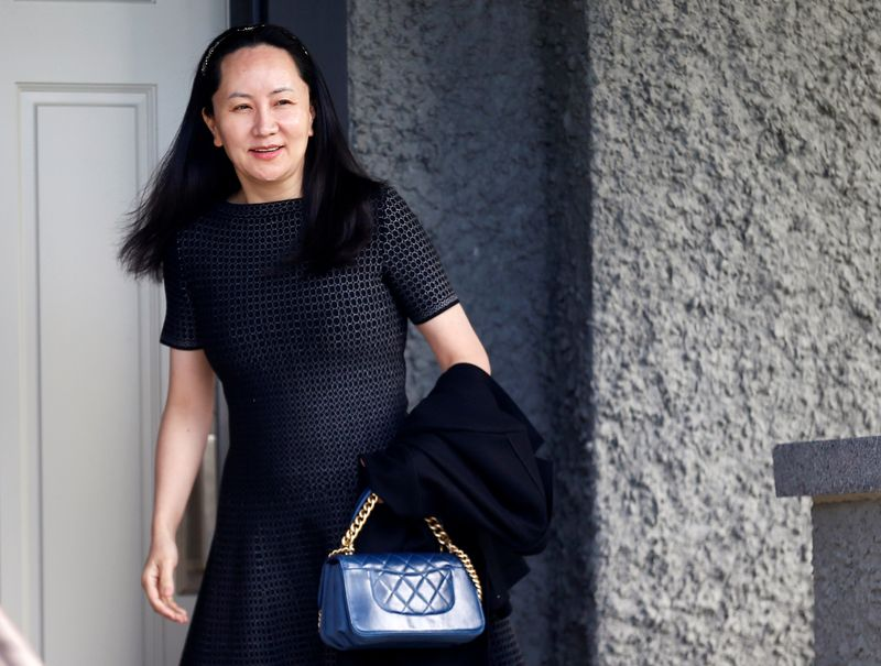 © Reuters. FILE PHOTO: Huawei's Financial Chief Meng Wanzhou leaves her family home in Vancouver, British Columbia
