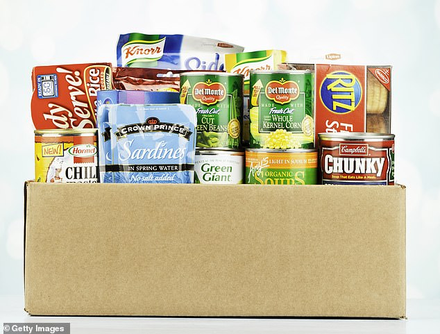 Hard times: Food banks were unheard of a decade ago but there are now more than 2,000 in Britain