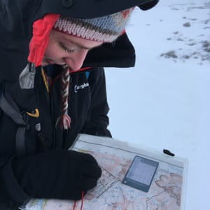 Map and compass work with gloves on is tricky.