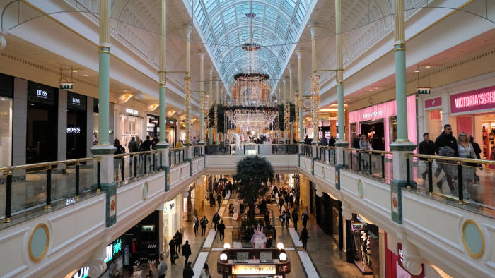 A general view shows the Trafford Centre shopping centre in Manchester, Britain, November 7, 2019. Picture taken November 7, 2019. REUTERS/Jon Super - RC2Z6D90BLUV