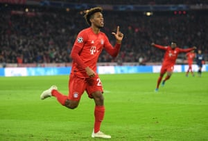 Kingsley Coman opens the scoring after a wave of Bayern attacks.