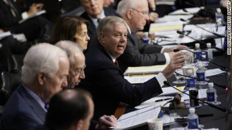 Lindsey Graham questioning Michael Horowitz, inspector general for the Justice Department, before the Senate Judiciary Committee, Wednesday, December 11, 2019.