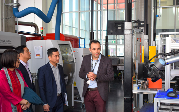 delegates from Vietnam take a tour of the Factory of the Future