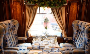 Sit back in comfort: cut glass and white linen en route to Canterbury