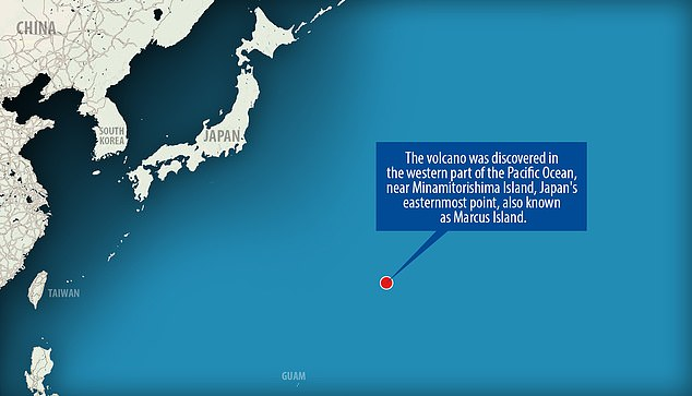 This underwater mountain sits in the western part of the Pacific Ocean near Minamitorishima Island – an area researchers previously believed only consisted of islands and seamounts that formed at least 70 million years ago