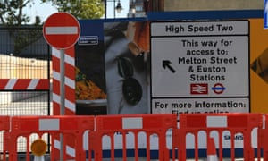 The HS2 construction site in Euston, London.