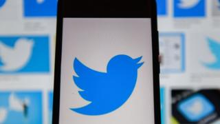Twitter logo seen displayed on a smartphone.