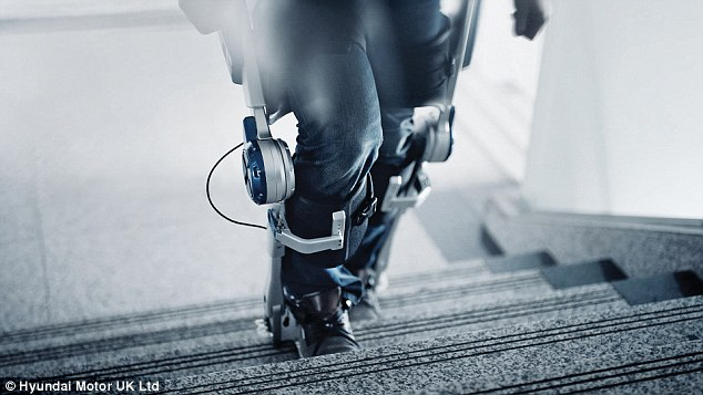 The H-MEX (pictured) supports the lower back and knees with harness fixture points