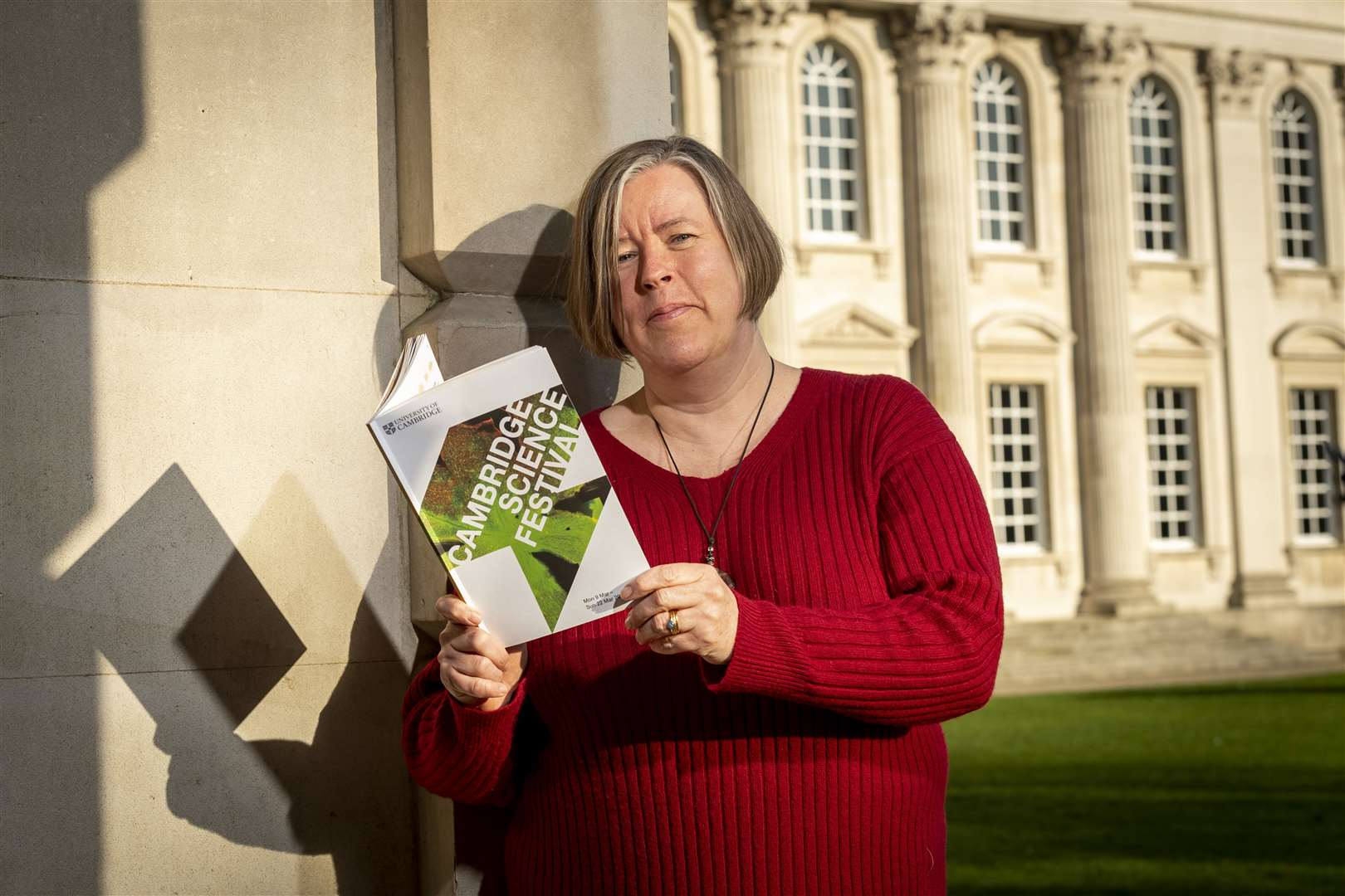 Cambridge Science Festival Programme launch, Lucy Spokes with this years programme. Picture: Keith Heppell.