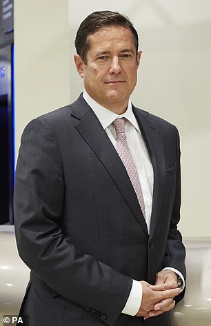 Barclays' chief executive Jes Staley (pictured in the bank's London HQ) is being investigated over his relationship with US convicted paedophile Jeffrey Epstein