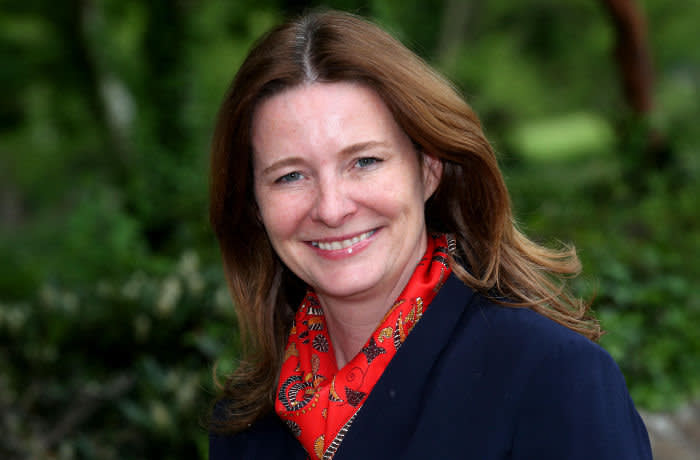 T8D0N0 Gillian Keegan, Conservative MP for the Chichester Constituency pictured in Chichester, West Sussex, UK.
