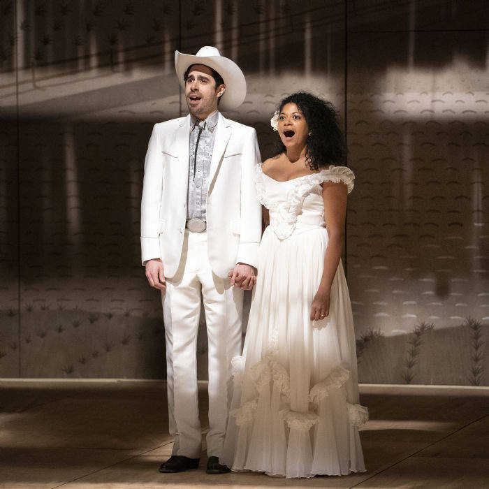 Damon Daunno and Rebecca Naomi Jones in the 2019 Broadway production of 'Oklahoma!', produced by Eric Kuhn