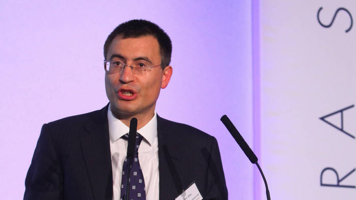 Chris Hohn, Managing Partner and Founder of The Children`s Investment Fund addresses this year's Ira Sohn Investment Conference in central London which is supporting Great Ormond Street Hospital Children's Charity to fund cancer research and programmes aimed at improving the quality of life and outcomes for children living with cancer,