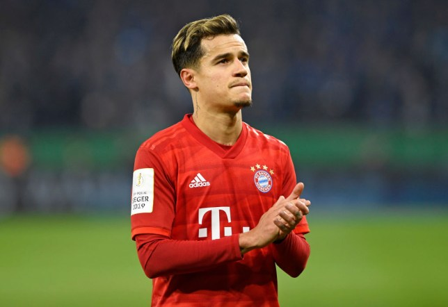 GELSENKIRCHEN, GERMANY - MARCH 03: (BILD ZEITUNG OUT) Philippe Coutinho of Bayern Muenchen looks on after the DFB Cup quarterfinal match between FC Schalke 04 and FC Bayern Muenchen at Veltins Arena on March 3, 2020 in Gelsenkirchen, Germany. (Photo by Ralf Treese/DeFodi Images via Getty Images)