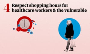 Respect shopping hours for healthcare workers and the vulnerable