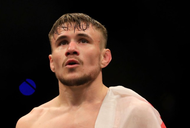 Nathaniel Wood pictured after a UFC fight