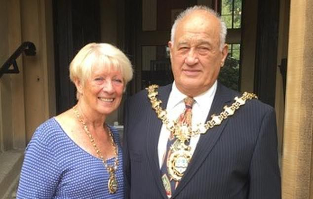 Former mayor Colin Rigby, 78, and his wife Jean are relying on weekly food boxes from their local council because they cannot get a supermarket delivery slot