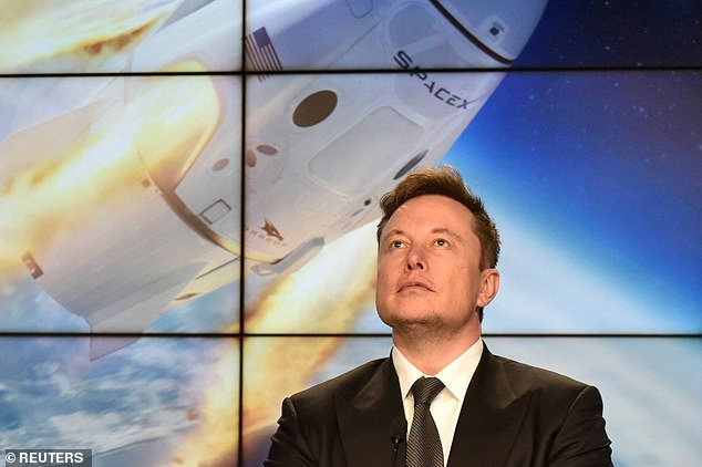 SpaceX CEO Elon Musk (pictured) has directed the aerospace company to begin making face shields and hand sanitizer to bolster supplies for medical workers